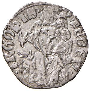reverse: Pisa. Repubblica. Emissioni a nome di Federico II (1313-1406). Grossone da 6 soldi (segno: ramo d'alloro) AG gr. 2,45. CNI 50/51. MIR 422/4 (segno 45). Molto raro. q.SPL