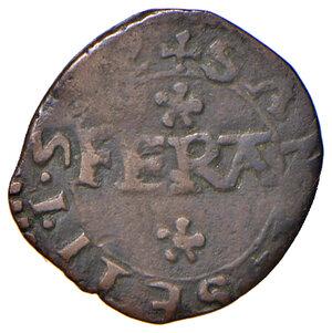 obverse: Pomponesco. Giulio Cesare Gonzaga (1583-1593). Quarto MI gr. 0,84. CNI 40/43. Bignotti (Rami minori) 13. MIR 877. Molto raro. BB