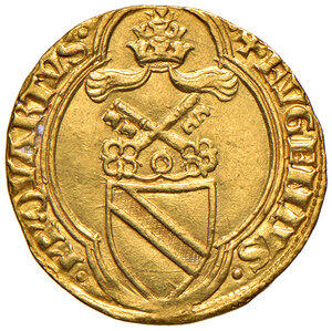 obverse: Roma. Eugenio IV (1431-1447). Ducato papale AV gr. 3,51. Muntoni 2. Berman 301. MIR 304/1. q.SPL