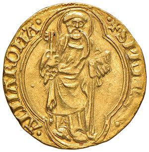 reverse: Roma. Eugenio IV (1431-1447). Ducato papale AV gr. 3,51. Muntoni 2. Berman 301. MIR 304/1. q.SPL