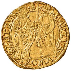 reverse: Roma. Paolo II (1464-1471). Ducato papale AV gr. 3,48. Muntoni 16. Berman 401. MIR 404/1. q.SPL