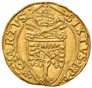 obverse: Roma. Sisto IV (1471-1484). Fiorino di camera AV gr. 3,37. Muntoni 10. Berman 448. MIR 452/1. Raro. q.SPL