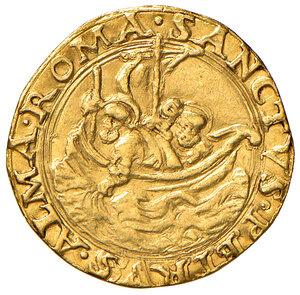 reverse: Roma. Giulio II (1503-1513). Fiorino di camera AV gr 2,58. Muntoni 15 var. Berman 562. MIR 552/1. Tosato, BB/q.BB