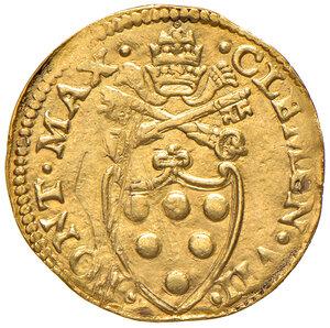 obverse: Roma. Clemente VII (1523-1534). Fiorino di camera AV gr. 3,36. Muntoni 16. Berman 830. MIR 787/2.   Raro. Tracce di montatura e graffietti al dr., altrimenti buon BB