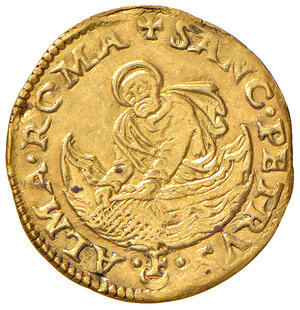 reverse: Roma. Clemente VII (1523-1534). Fiorino di camera AV gr. 3,36. Muntoni 16. Berman 830. MIR 787/2.   Raro. Tracce di montatura e graffietti al dr., altrimenti buon BB