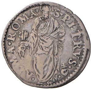 reverse: Roma. Sede Vacante 1555 (Camerlengo card. Guido Ascanio Sforza). Giulio 1555 AG gr. 2,85. Muntoni 2. Berman 1030. MIR 1013/2. Raro. BB