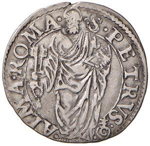 reverse: Roma. Sede Vacante 1559 (Camerlengo card. Guido Ascanio Sforza). Giulio 1559 AG gr. 2,99. Muntoni 5. Berman 1059. MIR 1047/1. Raro. Buon BB/BB