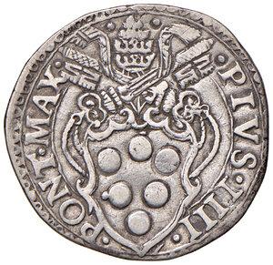 obverse: Roma. Pio IV (1559-1565). Testone AG gr. 9,38. Muntoni 1. Berman 1063. MIR 1053/1b. Buon BB