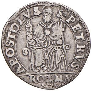 reverse: Roma. Pio IV (1559-1565). Testone AG gr. 9,38. Muntoni 1. Berman 1063. MIR 1053/1b. Buon BB