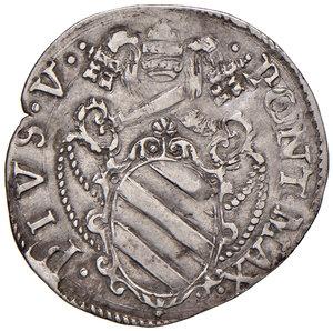 obverse: Roma. Pio V (1559-1565). Giulio AG gr. 3,11. Muntoni 14. Berman 1099. MIR 1090/1. Molto raro. Buon BB/BB