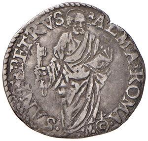reverse: Roma. Pio V (1559-1565). Giulio AG gr. 3,11. Muntoni 14. Berman 1099. MIR 1090/1. Molto raro. Buon BB/BB