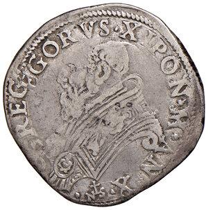 obverse: Roma. Gregorio XIII (1572-1585). Testone anno X AG gr. 9,27. Muntoni 63. Berman 1164. MIR 1186/2. Raro. q.BB