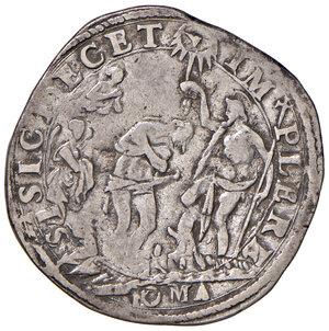 reverse: Roma. Gregorio XIII (1572-1585). Testone anno X AG gr. 9,27. Muntoni 63. Berman 1164. MIR 1186/2. Raro. q.BB