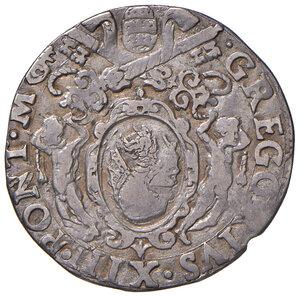 obverse: Roma. Gregorio XIII (1572-1585). Testone AG gr. 7,52. Muntoni 36. Berman 1154. MIR 1121/1. Molto raro. Tosato, BB