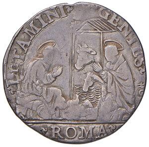 reverse: Roma. Gregorio XIII (1572-1585). Testone AG gr. 7,52. Muntoni 36. Berman 1154. MIR 1121/1. Molto raro. Tosato, BB