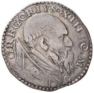 obverse: Roma. Gregorio XIII (1572-1585). Testone AG gr. 9,39. Muntoni 69. Berman 1168. MIR 1131/8. Buon BB