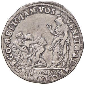 reverse: Roma. Gregorio XIII (1572-1585). Testone AG gr. 9,39. Muntoni 74. Berman 1174. MIR 1122/1. Molto raro. BB