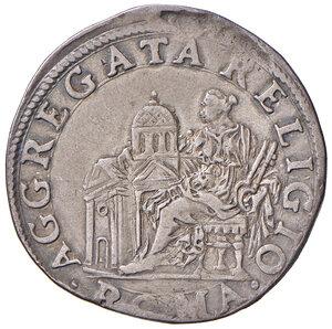 reverse: Roma. Sisto V (1585-1590). Testone anno I AG gr. 9,39. Muntoni 10. Berman 1315. MIR 1301/1. Raro. Buon BB