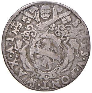 obverse: Roma. Sisto V (1585-1590). Testone anno I AG gr. 9,39. Muntoni 23. Berman 1323. MIR 1305/3. Molto raro. q.BB
