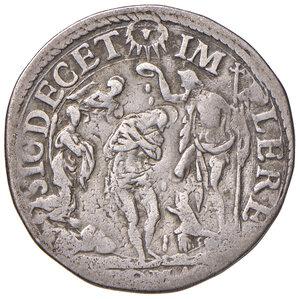 reverse: Roma. Sisto V (1585-1590). Testone anno I AG gr. 9,39. Muntoni 23. Berman 1323. MIR 1305/3. Molto raro. q.BB