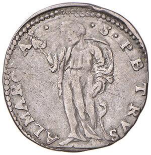 reverse: Roma. Sisto V (1585-1590). Testone anno I AG gr. 9,35. Muntoni 30. Berman 1327. MIR 1309/1. BB