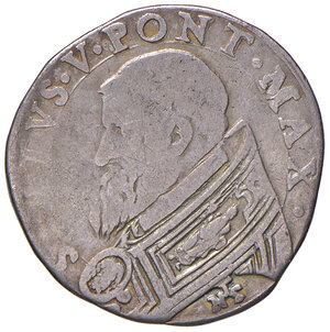 obverse: Roma. Sisto V (1585-1590). Testone AG gr. 9,24. Muntoni 16. Berman 1317. MIR 1304/2. Molto raro. MB-BB