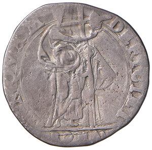 reverse: Roma. Sisto V (1585-1590). Testone AG gr. 9,24. Muntoni 16. Berman 1317. MIR 1304/2. Molto raro. MB-BB