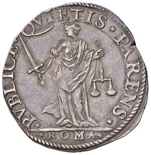reverse: Roma. Sisto V (1585-1590). Testone AG gr. 9,58. Muntoni 19. Berman 1320. MIR 1329/1. Di ottima qualità per il tipo, migliore di BB
