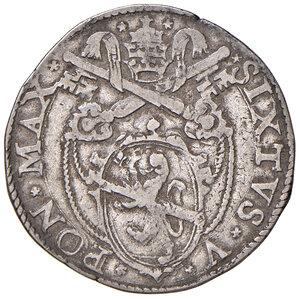 obverse: Roma. Sisto V (1585-1590). Testone AG gr. 9,34. Muntoni 19. Berman 1320. MIR 1329/1. BB