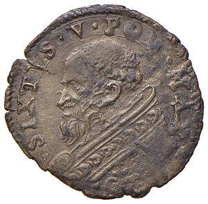 obverse: Roma. Sisto V (1585-1590). Baiocco MI gr. 0,88. Muntoni 61. Berman 1339. MIR 1330/1. Molto raro. Buon BB