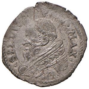 obverse: Roma. Sisto V (1585-1590). Baiocco MI gr. 1,03. Muntoni 61. Berman 1339. MIR 1330/1. Molto raro. Buon BB