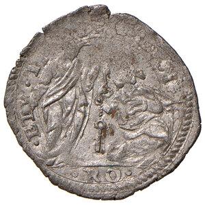 reverse: Roma. Sisto V (1585-1590). Baiocco MI gr. 1,03. Muntoni 61. Berman 1339. MIR 1330/1. Molto raro. Buon BB