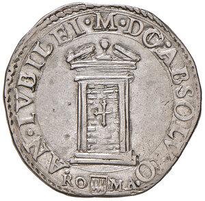 reverse: Roma. Clemente VIII (1592-1605). Testone anno santo 1600/X AG gr. 9,40. Muntoni 13. Berman 1440. MIR 1459/6. q.SPL