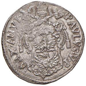 obverse: Roma. Paolo V (1605-1621). Testone anno VI AG gr. 9,60. Muntoni 26a. Berman 1553. MIR 1539/3. Fondi lucenti, q.SPL