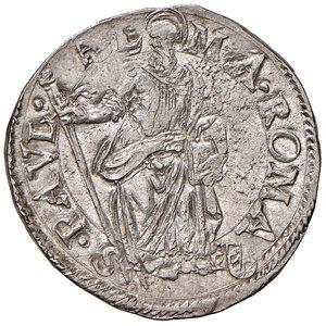 reverse: Roma. Paolo V (1605-1621). Testone anno VI AG gr. 9,60. Muntoni 26a. Berman 1553. MIR 1539/3. Fondi lucenti, q.SPL