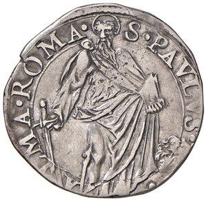reverse: Roma. Paolo V (1605-1621). Testone anno VI AG gr. 9,36. Muntoni 39. Berman 1553. MIR 1539/11.  BB