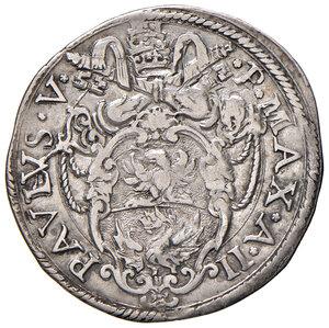 obverse: Roma. Paolo V (1605-1621). Giulio anno II AG gr. 3,21. Muntoni 87. Berman 1566. MIR 1530/4. Raro. BB