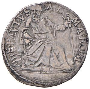 reverse: Roma. Paolo V (1605-1621). Giulio anno II AG gr. 3,21. Muntoni 87. Berman 1566. MIR 1530/4. Raro. BB