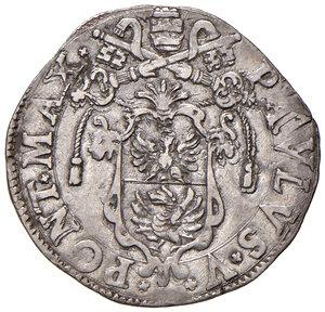obverse: Roma. Paolo V (1605-1621). Giulio AG gr. 3,17. Muntoni 103. Berman 1569. MIR 1559/2. Raro. Buon BB