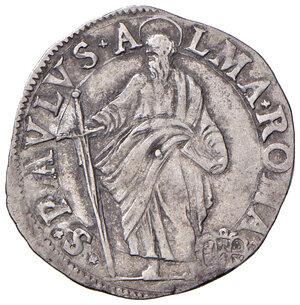 reverse: Roma. Paolo V (1605-1621). Giulio AG gr. 3,17. Muntoni 103. Berman 1569. MIR 1559/2. Raro. Buon BB