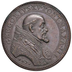 obverse: Roma. Gregorio XV (1621-1623). Medaglia anno III/1623 AE gr. 24,02 diam. 35,5 mm. Opus Giovanni Antonio Moro. Per le canonizzazioni del 1622. Mazio 181. Coniazione postuma. FDC