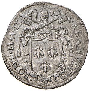 obverse: Roma. Urbano VIII (1623-1644). Testone anno santo 1625/II AG gr. 9,52. Muntoni 49. Berman 1717. q.SPL