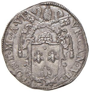 obverse: Roma. Urbano VIII (1623-1644). Testone anno VI AG gr. 9,62. Muntoni 62. Berman 1723. q.SPL