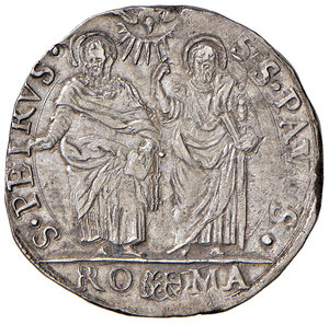 reverse: Roma. Urbano VIII (1623-1644). Testone anno VI AG gr. 9,62. Muntoni 62. Berman 1723. q.SPL
