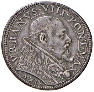 obverse: Roma. Urbano VIII (1623-1644). Testone anno XIV AG gr. 9,44. Muntoni 70. Berman 1725. Buon BB