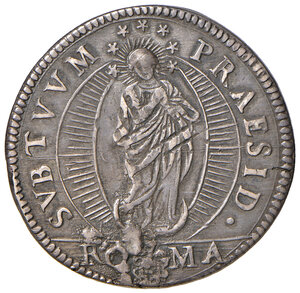 reverse: Roma. Urbano VIII (1623-1644). Testone anno XIV AG gr. 9,44. Muntoni 70. Berman 1725. Buon BB
