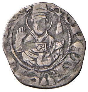 reverse: L'Aquila. Ladislao di Durazzo (1388-1414). Bolognino AG gr. 0,67. CNI –. D.A. –. MIR –. Questo bolognino presenta le lettere disposte a croce al dritto in maniera invertita, da formare la sequenza AAQL. Rarissimo. BB