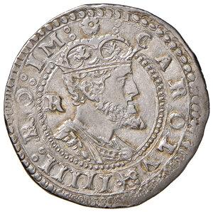 obverse: L'Aquila. Carlo V d'Asburgo (1519-1556). Tarì AG gr. 6,20. D.A. – (cfr. 146, ma legenda del rov. diversa). MIR 117. Raro. Di notevole qualità per il tipo, SPL