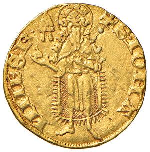 reverse: Avignone. Monetazione anonima pontificia del sec. XIV. Fiorino AV gr. 3,53. Muntoni 2. Berman 201. MIR 223/2. BB. Il Muntoni ritiene probabile l'attribuzione di questi fiorini anonimi a Urbano V, non escludendo però la possibilità che possano essere stati coniati anche da Innocenzo VI e Gregorio XI.