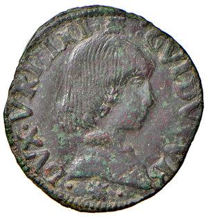 obverse: Urbino. Guidobaldo I di Montefeltro (1482-1508). Quattrino MI gr. 1,70. CNI 20. Ravegnani Morosini 2. Cavicchi 31. Tipo rarissimo con il busto a destra. q.SPL